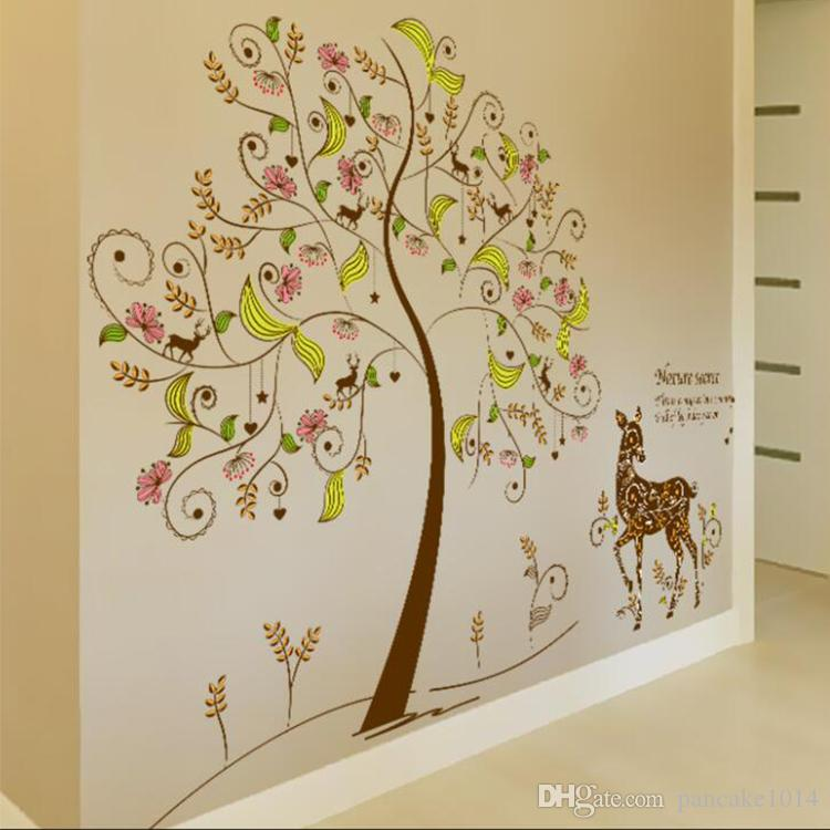 Home Decoration Decor Wall Stickers Secret Tree Decals Cartoon ...