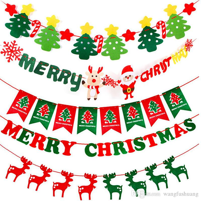 merry christmas party banner christmas banner flag garland xmas decor 2018 christmas party decor happy new year 2019 party christmas party banner christmas - Merry Christmas Banner