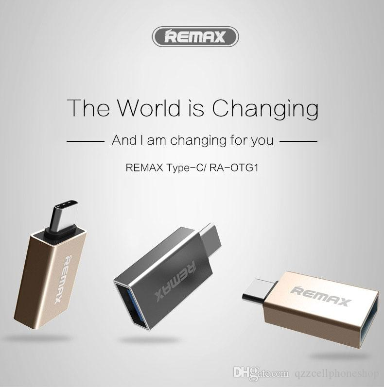 REMAX Mobile Phone Type C Otg Adapters To USB Adapter Mini Connector Fast Charging For U-Disk To Type C To USB 3.1