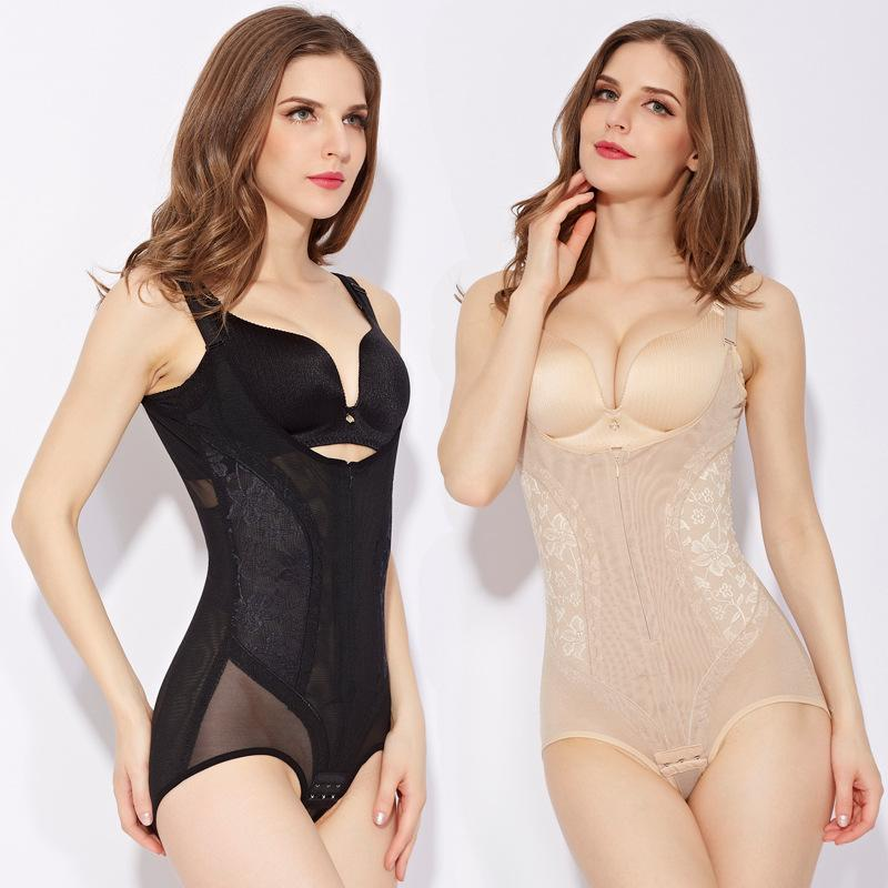 55dd37d9b8eaa 2019 3XL 4XL 5XL Plus Size Women Control Full Body Shaper Slimmer Waist  Cincher Butt Lift Bodysuits Shapewear Zipper Corset Underwear From  Sandlucy
