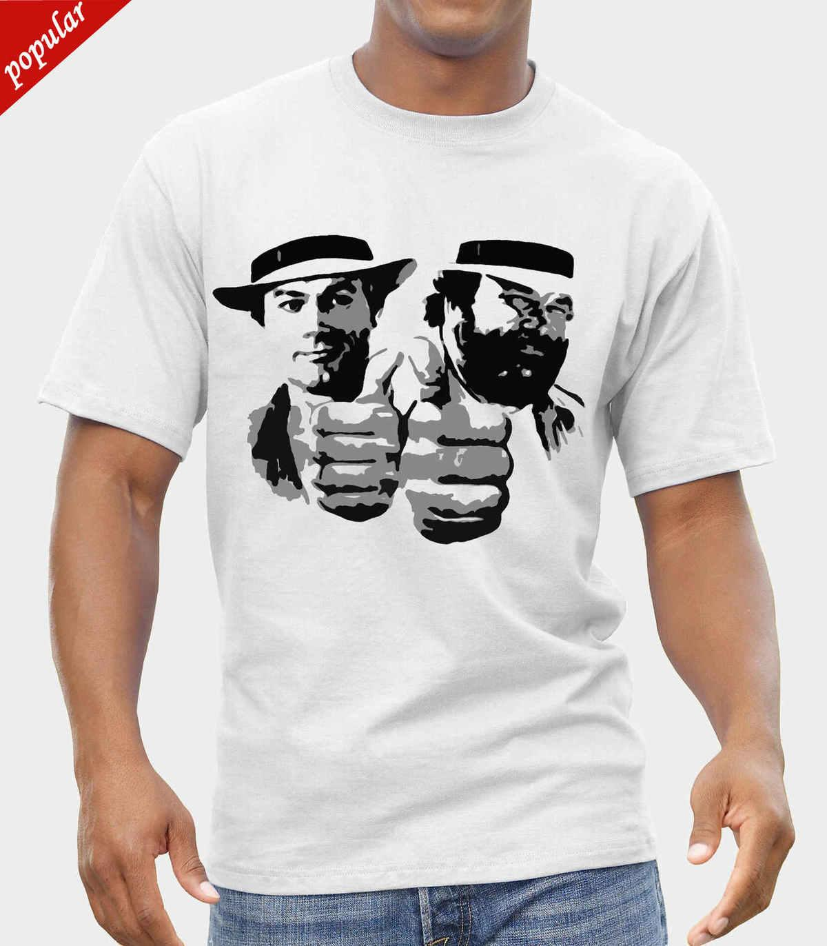 Bud spencer terence hill logo t shirt fruit of the loom print by epson random funny t shirts clever funny t shirts from customteemall 10 67 dhgate com