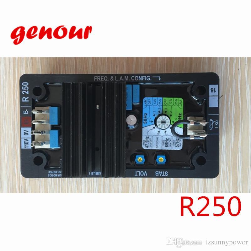 Genour R250 для автоматический регулятор напряжения для Лерой somer generador для AVR R250 для высокое качество безщеточный генератор запасные части
