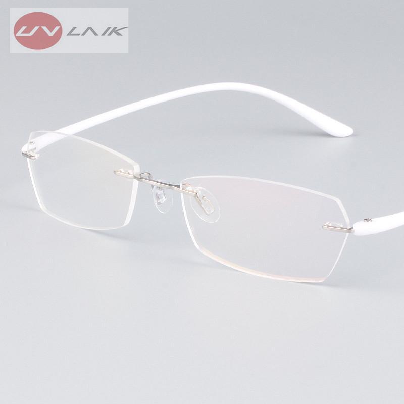 15bfe47dbc7d 2019 UVLINK Classic Mens Plastic Titanium Rimless Glasses Frames For Myopia Optical  Frame Ultra Light Frameless Eyeglasses Frame From Bojiban, ...