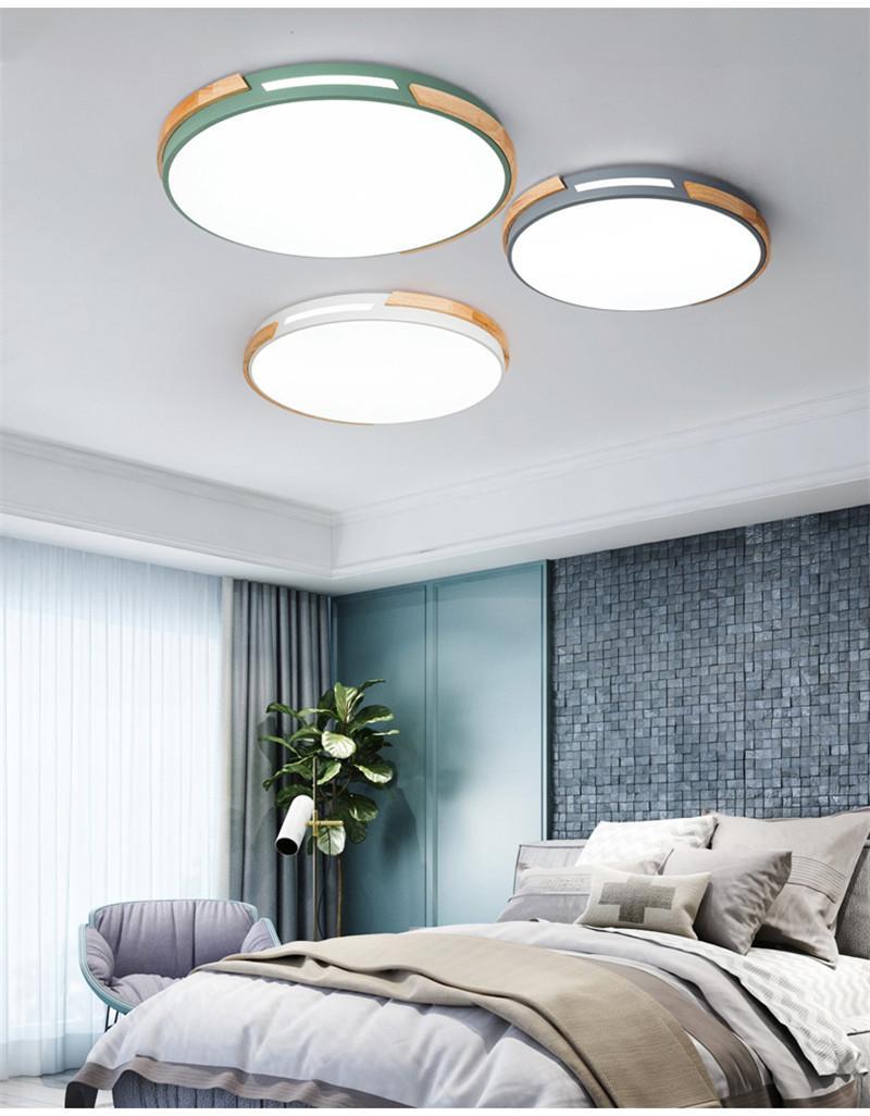 Großhandel Hollow Wood Art Schlafzimmer Deckenleuchte Nordic Lampe ...