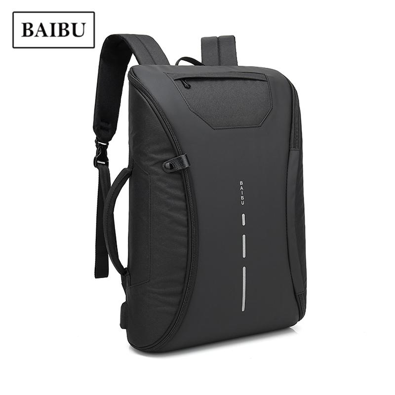 ae00752be7e USB Recharge Men Backpack Waterproof Anti-theft Laptop Bagpack ...