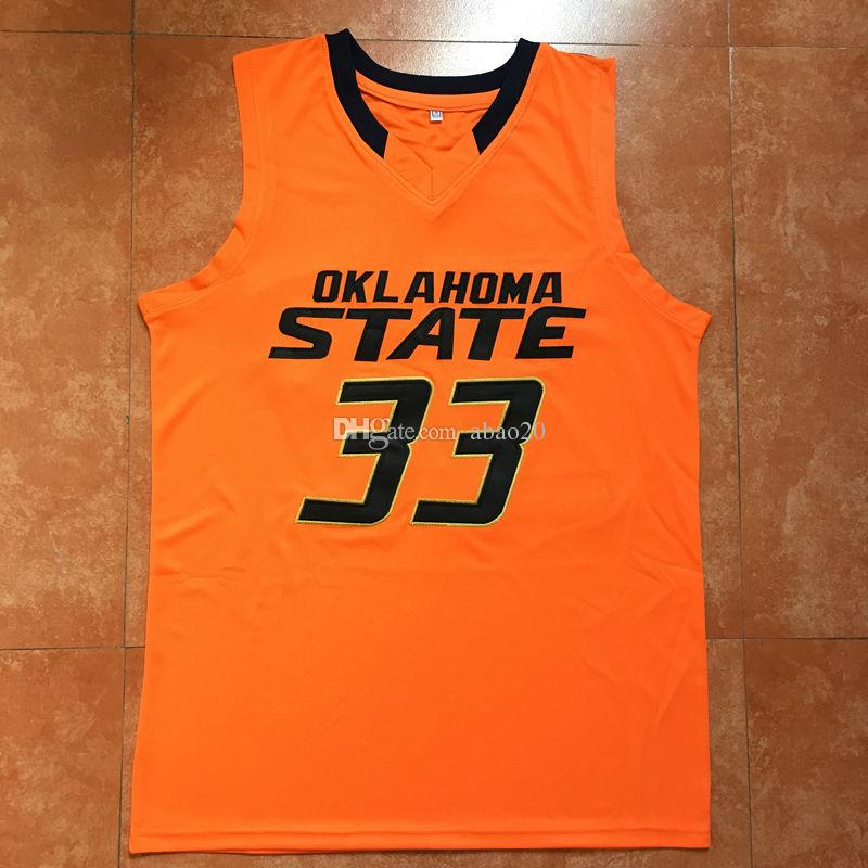 504206639 2019  33 Marcus Smart Oklahoma State College Basketball Jersey Embroidery  Stitched Customize Any Number And Name Jerseys From Abao20