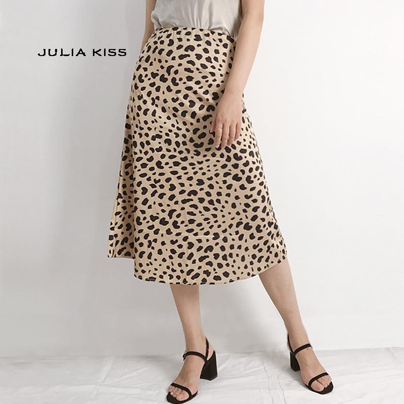 0dcc2e8fb Falda larga de leopardo con estampado de leopardo Faldas largas de leopardo