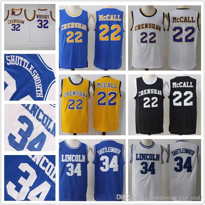 2019 Lincoln Big State 34 Jesus Shuttlesworth 22 QUINCY McCALL 32 Monica  Wright Crenshaw High School Movie Stitched College Basketball Jerseys From  ... 9f09ab747