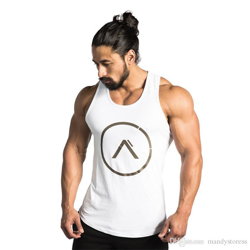 397585662e8a7 2019 Wholesale 2017 Gyms Tank Tops Bodybuilding Men Elastic Cotton Vest O  Neck Gyms Tank Top Men Sleeveless Shirts Muscle Men Fitness Tops From  Mandystoress ...
