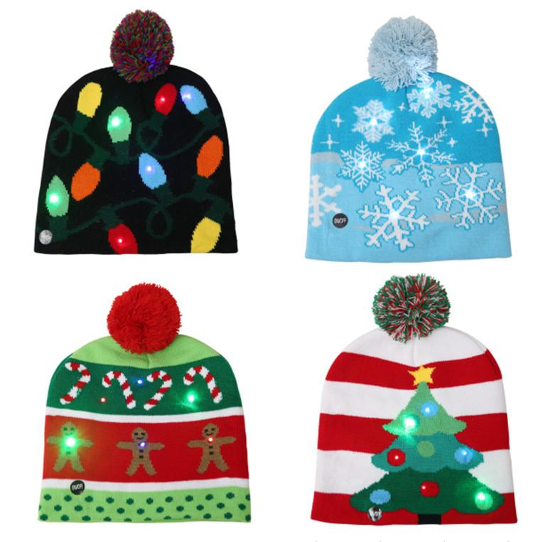Compre Sombrero LED De Navidad Gorros Sombrero De Iluminación Led ...