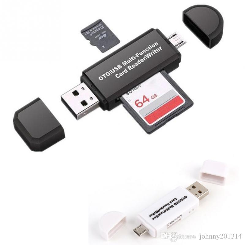 Tarjeta SD 3 en 1 lector de tarjetas USB OTG unidad flash USB 2.0 de alta velocidad universal OTG TF / para el teléfono Android ordenador Extensión encabezados