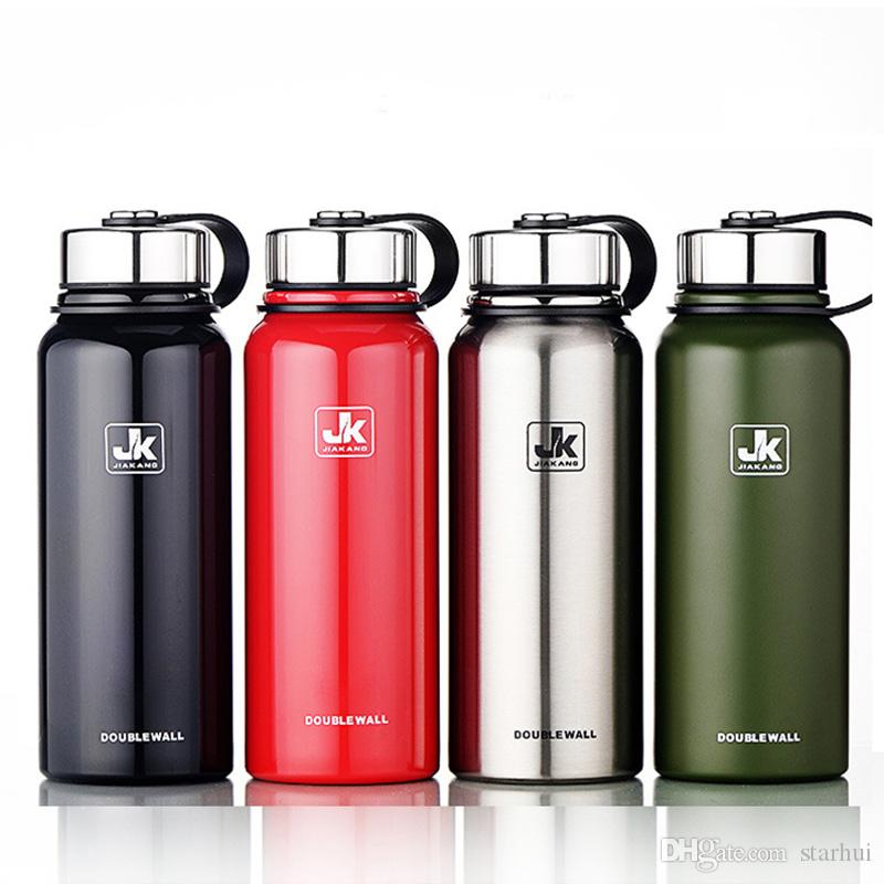 Portable Stainless Steel Water Bottles Double Vacuum Insulated Mug Cup Outdoor Hiking Climbing Kettle Water Bottle 610ml 4colors WX9-235