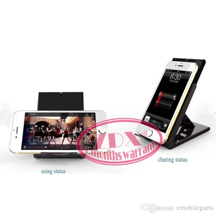 2018 высокое качество универсальный Ци беспроводное зарядное устройство регулируемый Складной держатель стенд док-станция для Samsung S7 S8 Edge Plus Примечание 8 Iphone 8 X Nexus 5 6