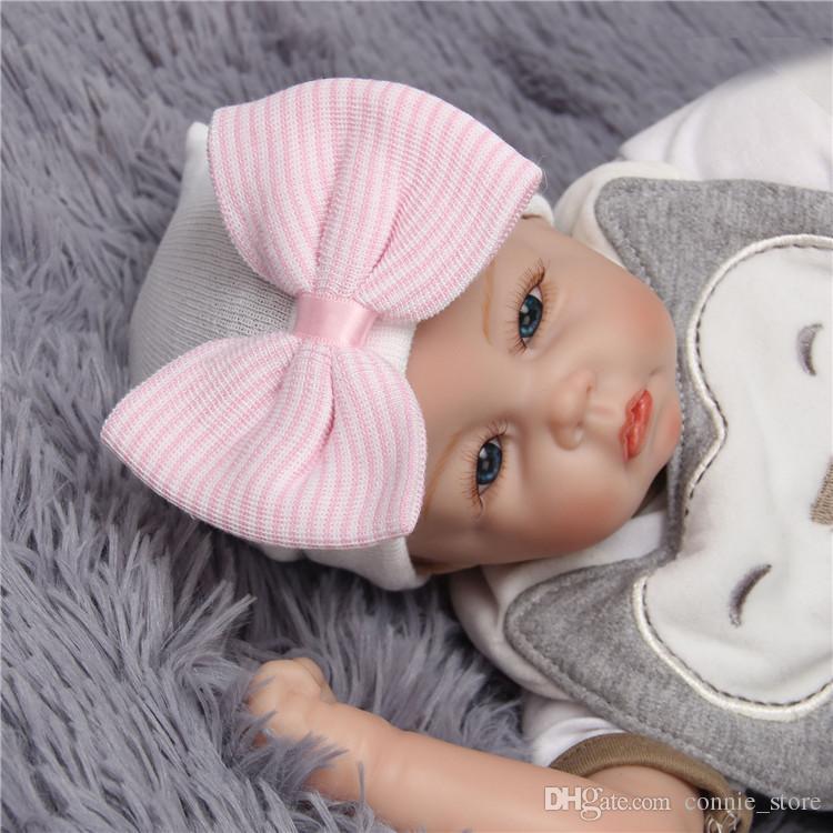 Bébé Filles Cheveux Arcs Chapeau Nouveau-Né Crochet Beanie Chapeaux Tout-petit Enfants Tricoté Cheveux Accessoires Infantile D'hiver Caps NC122