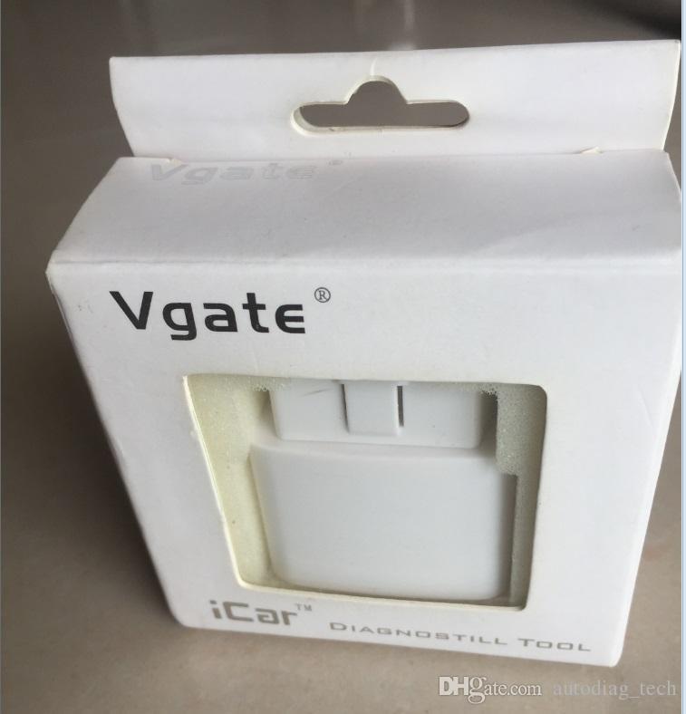 Lettore di OBD2 originale OBDII Vgate iCar ELM327 Bluetooth adattatore strumento diagnostico automatico Android e PC