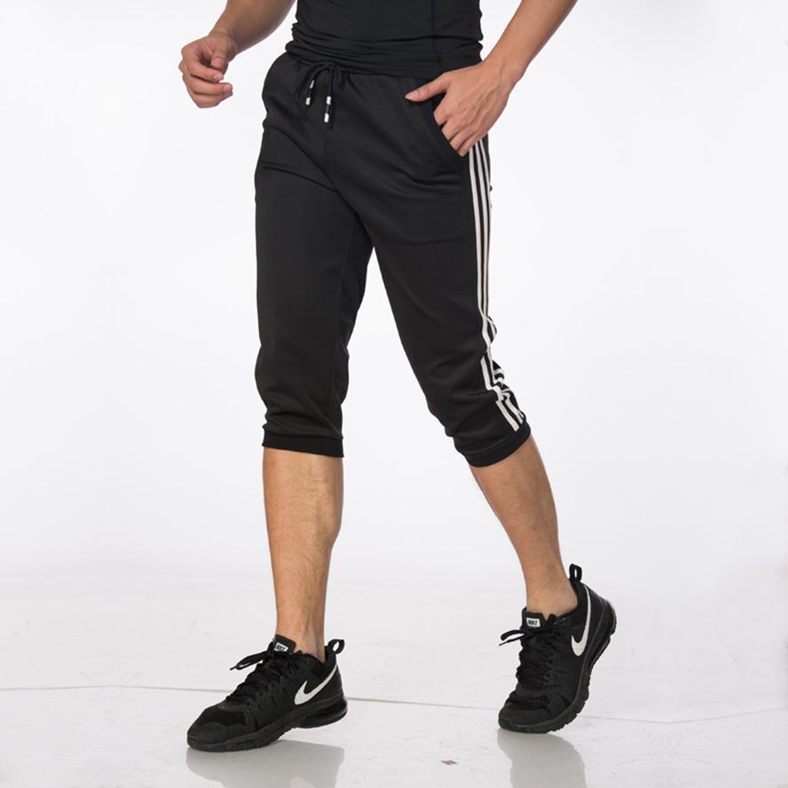 Compre Pantalones De Entrenamiento De Fútbol Hombre   Mujer Pantalones De  Fútbol Joggings Pantalones De Chándal 3 4 Recortados Hombres Deportes  Running ... 7f1af76b63180