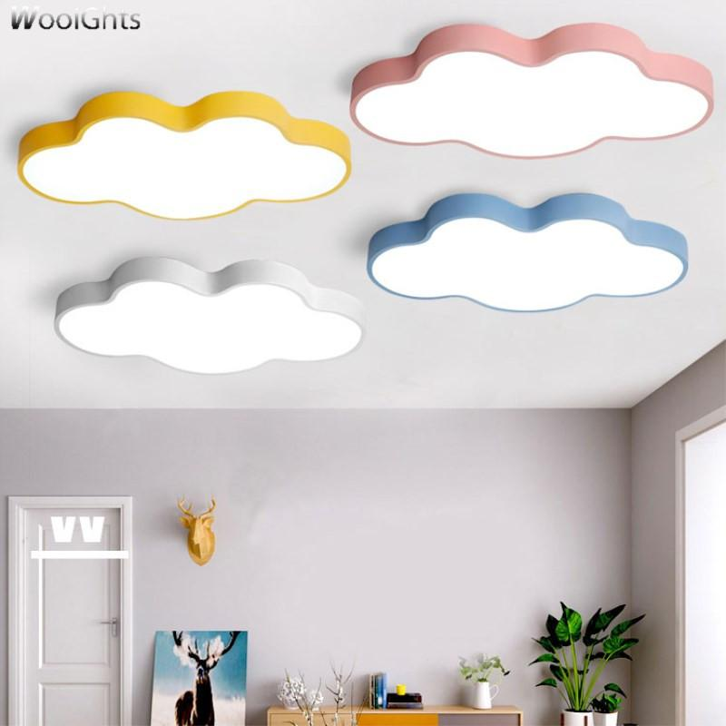 gro handel wooights luminaire cloud kinderzimmer deckenleuchte mit fernbedienung gelb blau rot. Black Bedroom Furniture Sets. Home Design Ideas
