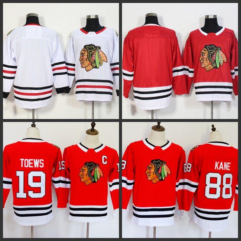 2019 2018 Youth Chicago Blackhawks Jerseys 88 Patrick Kane 19 Jonathan  Toews Blank Home Red Kids Ice Hockey Jersey From Bestjersey123 962b98675