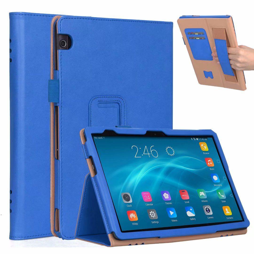 descubre las últimas tendencias buscar original la mejor moda Luxury Funda Tablet PU Case For Huawei MediaPad T5 10 AGS2-W09 L09 L03 W19  Leather Hand Holder Stand Shell Cover 10.1 Pen