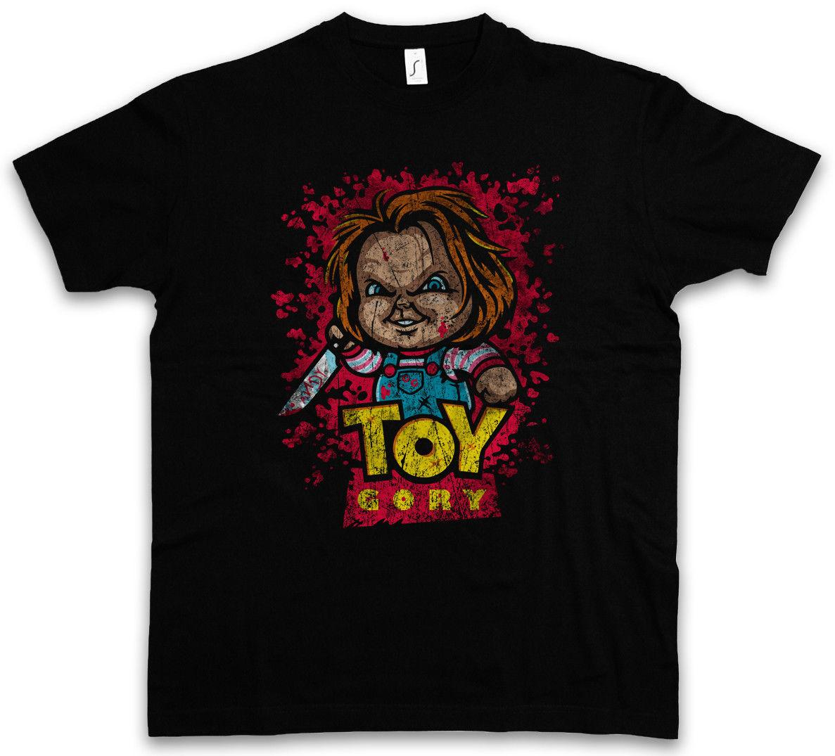 9179a214 TOY GORY T-SHIRT Bride Seed of Story Fun Shirt Chucky Gore bloody Child's  Play Cool Casual pride t shirt men