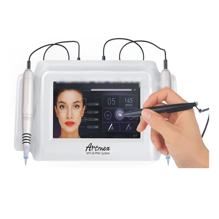 2018 high quality permanent make-up tattoo machine eyebrow pen mouth rotating pen Artmex MTS and PMU system V8