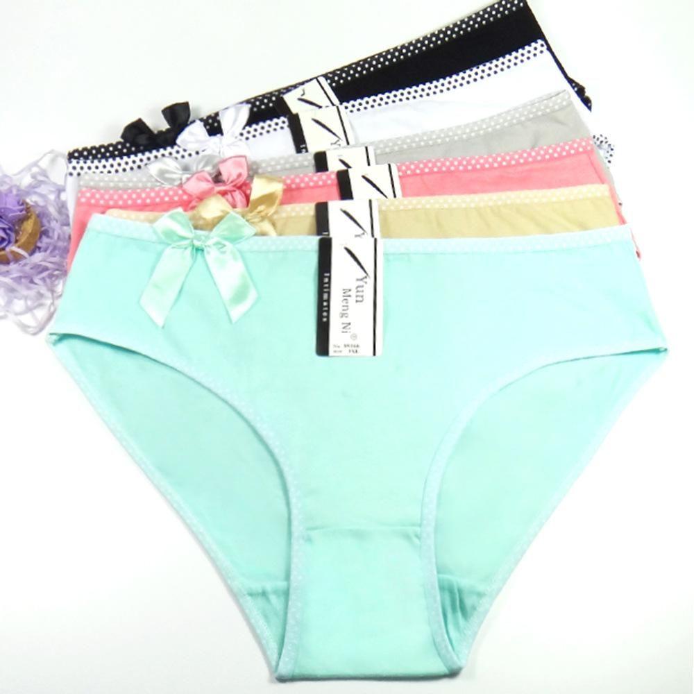 8235b7bb8cb 2019 Lady Cotton Panties Women S Breathable Comfort Briefs Plus Size Panty  Lingerie Underwear For Female XXXXL From Danqie