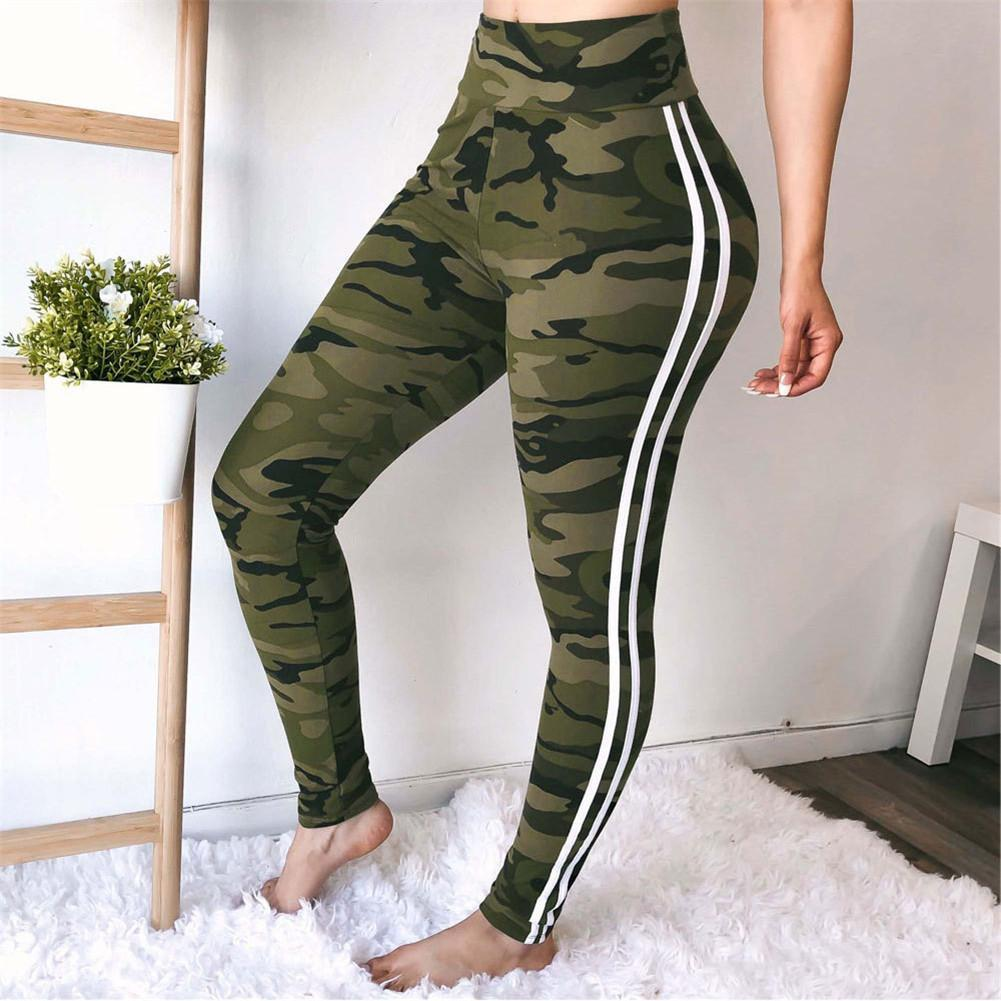 43d3a76e4ab5 2019 Camouflage Sport Leggings Fitness Running Pants High Waist Women Yoga  Pant Red Wine Color Tights Seamless Sports Pants S3 From Cumax