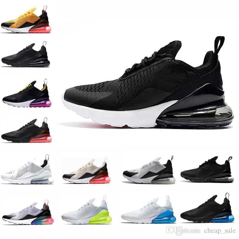 142489b6 Купить Оптом Nike Air Max 270 Новый Черный Белый 270 Кроссовки Мужчины  Женская Обувь Hyper Виноград Тройной Черный Свет Кости Betrue Военно  Морского Флота ...