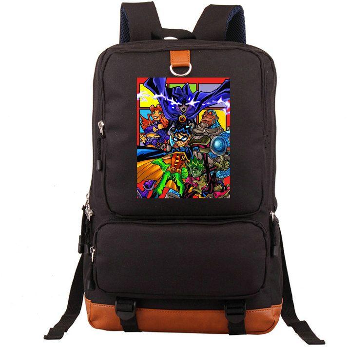 Acquista teen titans go backpack robin cyborg beast boy daypack