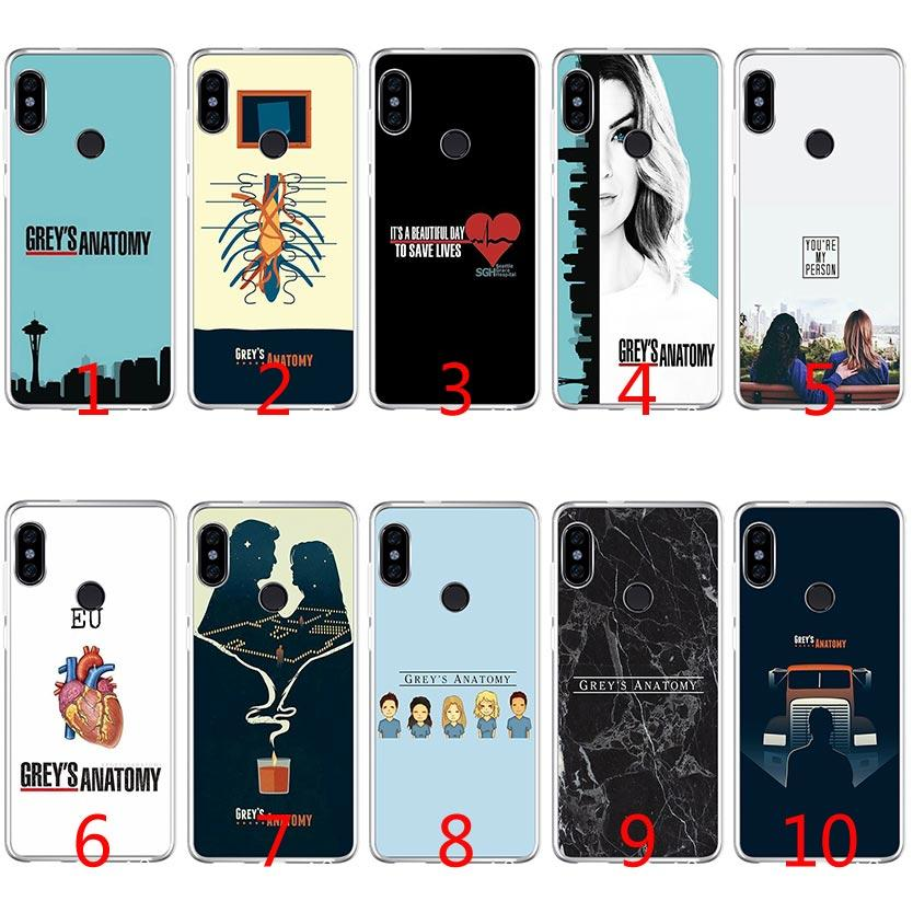hot sale online 5ba46 7d959 Grey Anatomy TV Soft Silicone TPU Case for Xiaomi Redmi Note 4X 5 Pro 6 Pro  5A 4A S2 5 Plus Cover