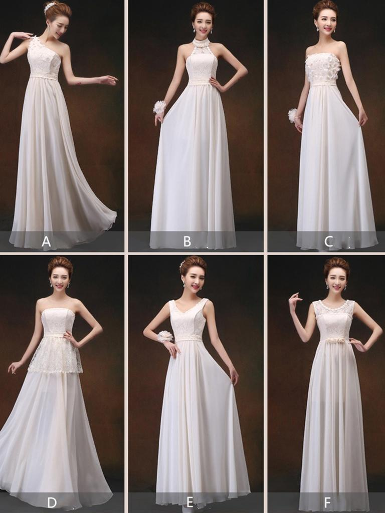 A variety of styles of elegant sexy evening dress and bridesmaid dress performance gown for girl