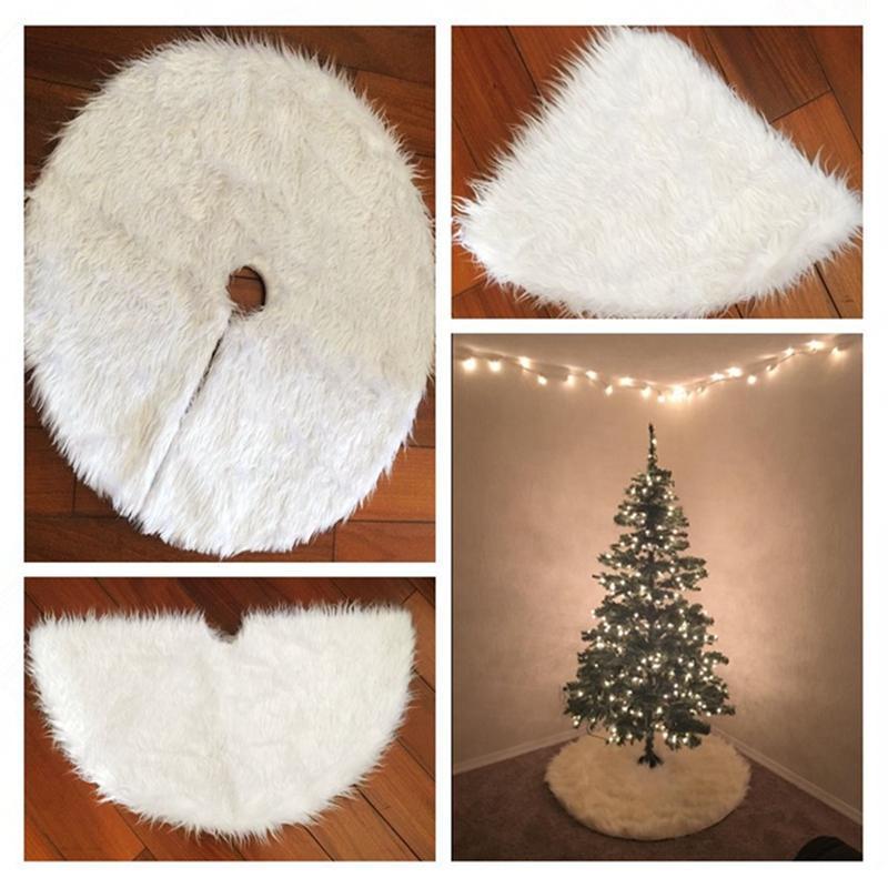Großhandel 1 Stücke Kreative Weiße Plüsch Weihnachtsbaum Röcke Pelz ...