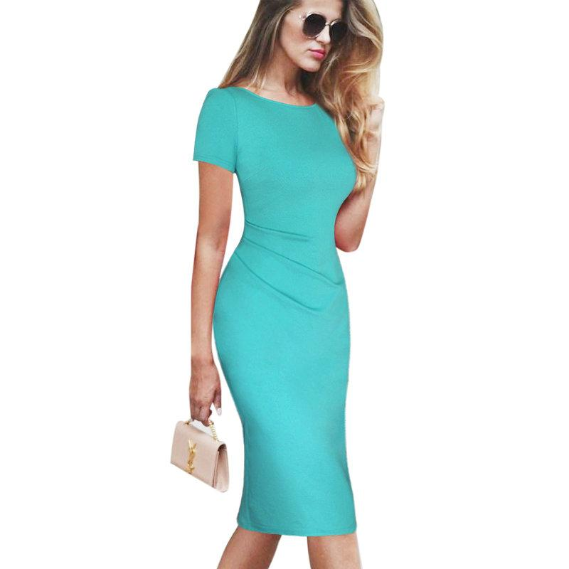 2019 Lcw New Design Women Elegant Ruched Sexy V Back Zipper Vintage Casual  Wear To Work Office Business Party Club Bodycon Pencil Dress From  Weichaoliang 02405e2b367f