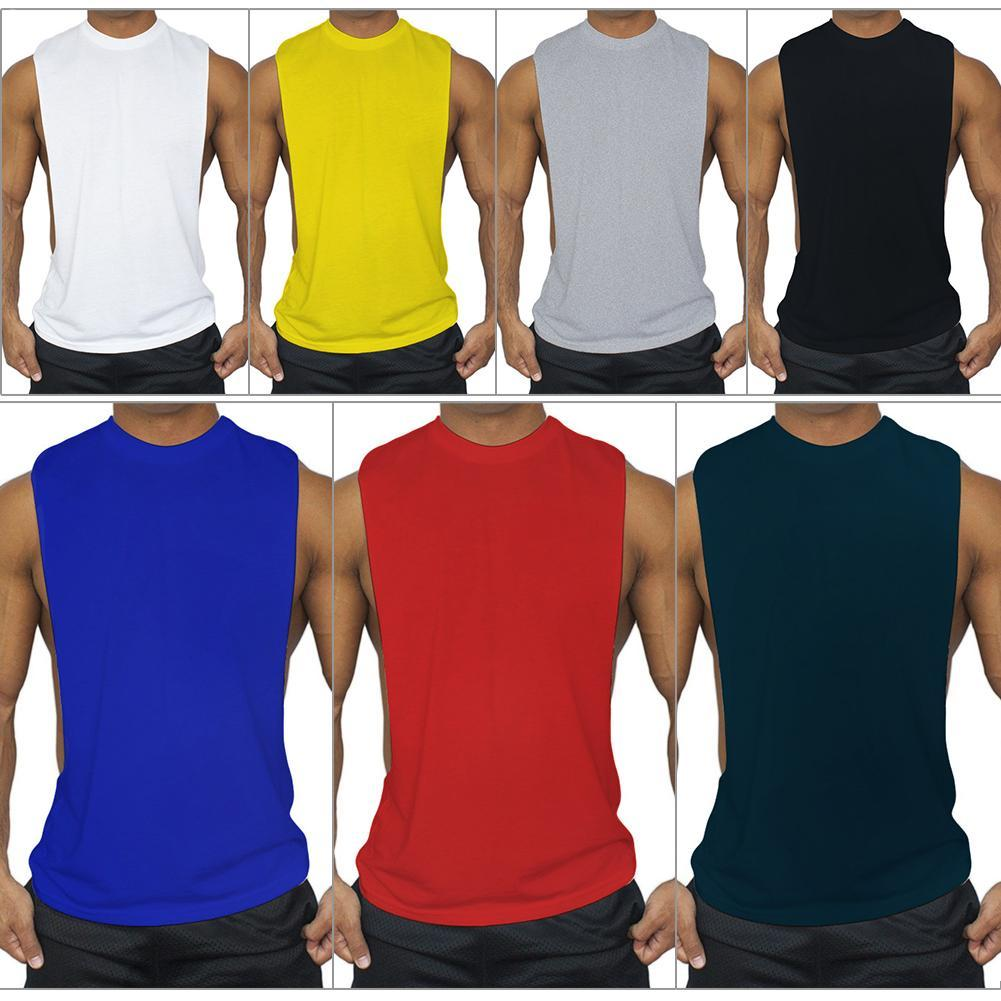 8dd1c6254e760c 2019 Quick Dry Mens Running Shirts Compression Tights Gym Tank Top Fitness  Sleeveless T Shirts Sport Best Running Vest From Longanguo