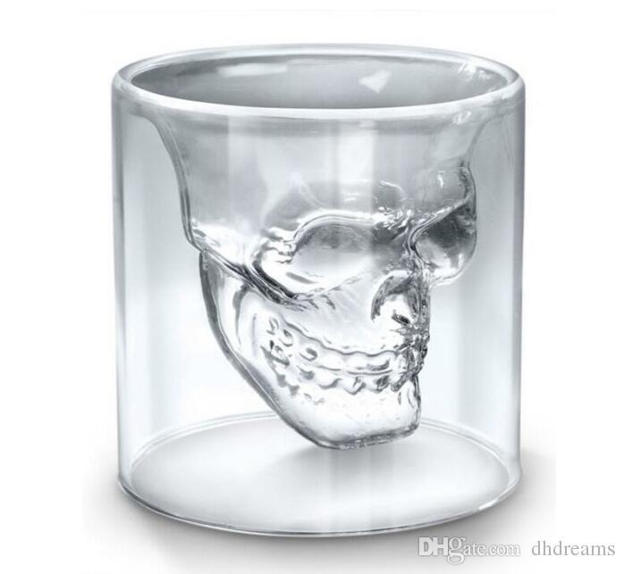 25ML 와인 컵 해골 유리 샷 유리 맥주 위스키 할로윈 장식 크리 에이 티브 파티 투명 Drinkware 안경 마시는