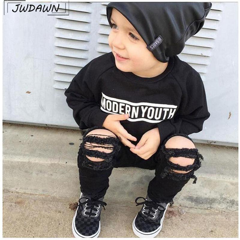 5cc1ca579 Denim Hole Baby Boys Clothes Jeans For Baby Girls Jeans 2018 Hot Sale Baby Ripped  Jean Pants Children Clothing Fashion Pants Y18103008 Baby Jeans Online ...