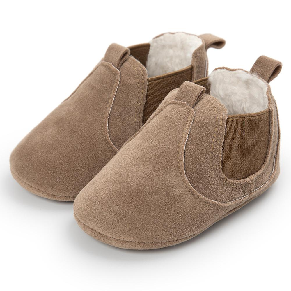 25ec21c8d6e 2019 Winter Outdoor Baby Shoes Boots Booties PU Suede Leather Soft Soled  Footwear For Baby Girl Boy Anti Silp Prewalker Babies Coffee From  Ouronlinelife