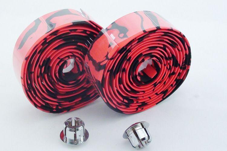 Wholesale Road Bicycle Bike Anti-slip Skidproof Soft Sponge Damping Handlebar Bandage Strap Belt Tape Wrap with Handle Bar End Plugs