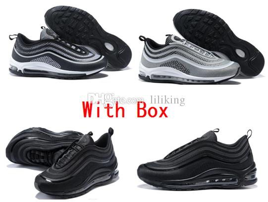 6c459f8ced4107 2018 Wholesale Running Shoes A Quality 97 Ultra Ul Prm Tripel White  Metallic Bullet White 3m Gold Silver Hot Sale Premium Box Men Women From  Liliking