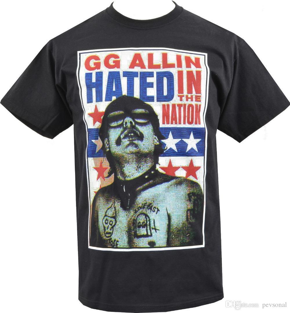 ccfcfaac011e9 Acheter Livraison Gratuite 2018 Mens T Shirt Gg Allin Détesté Dans La  Nation Punk Rock Cult Murder Junkies S 5xl 100% Coton Chemises De  10.5 Du  Pevsonal ...