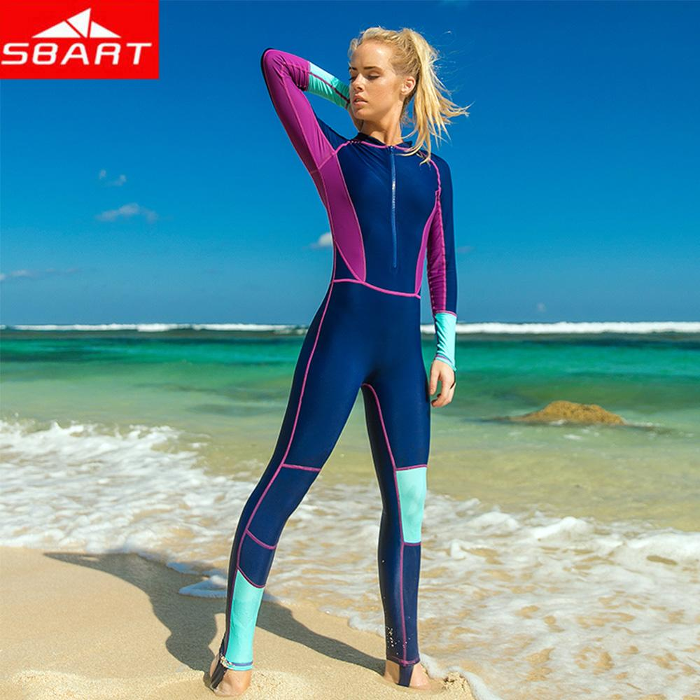 14c4b1a6ac5c 2019 SBART Women New One Piece Swimming Swimming Snorkeling Wetsuit Long  Sleeve Diving Wet Suit Outdoor Sports Surfing Wetsuits From Yymq0404, ...