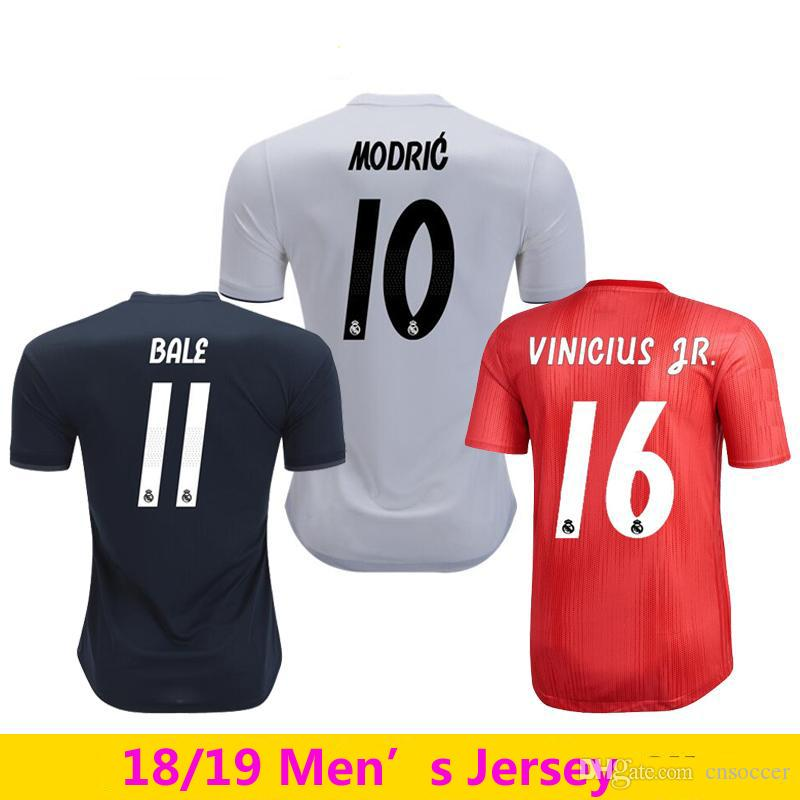 961183cbd14 2018 19 Real Madrid Soccer Jersey Football Shirt Modric Kroos Bale ...