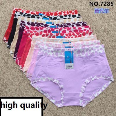 pack Plus Size Women s Large Underwear Bamboo Fiber Briefs Dot Print ... 9c4ed64f39