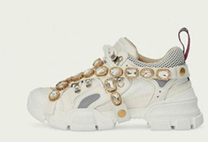 Flashtrek Sneaker con cristales extraíbles Womens Diseñador de la marca de lujo Running Sneakers Zapatos de escalada de montaña Mens botas de