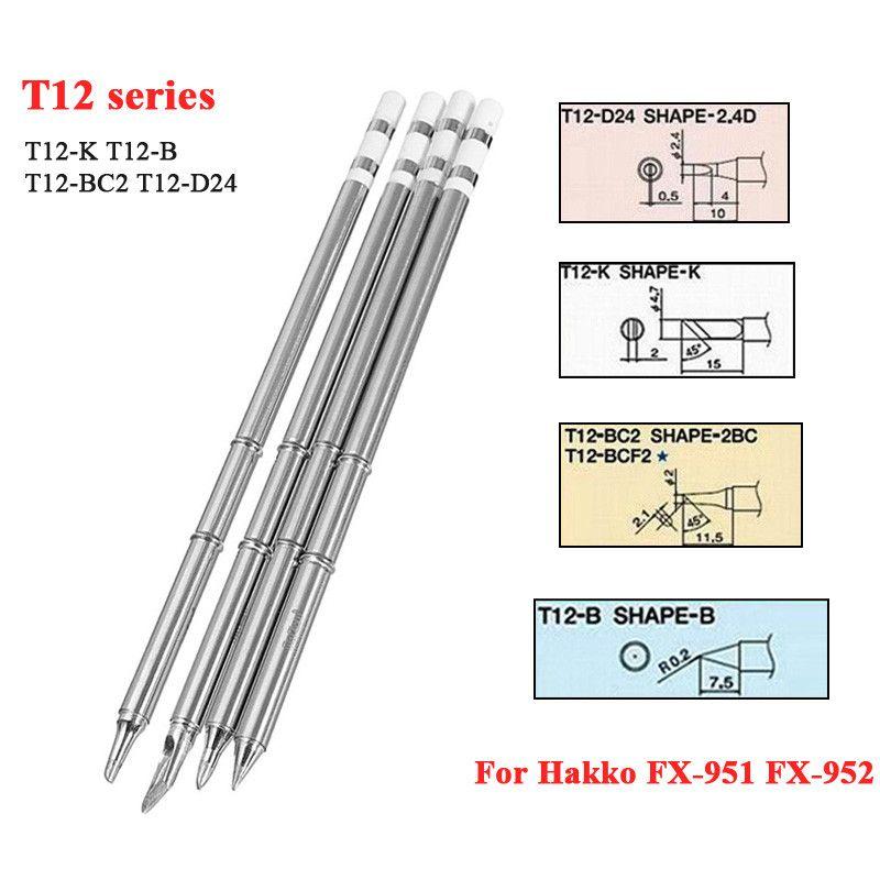 T12-K T12-B T12-BC24 T12-D24 de solda pontas de ferro série T12 para estação de retrabalho de solda Hakko FX-951 FX-952
