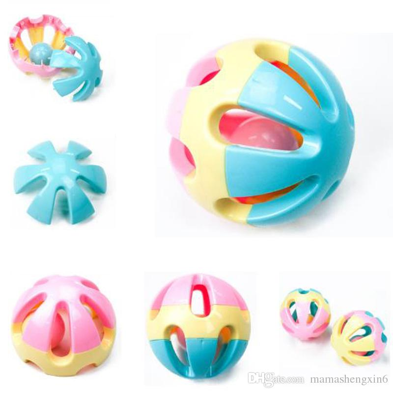 New Baby Rattling Bell Toy Infant Hand Grasp Vision Training Ball Shape Gift Teething Toys Baby Educational Toys