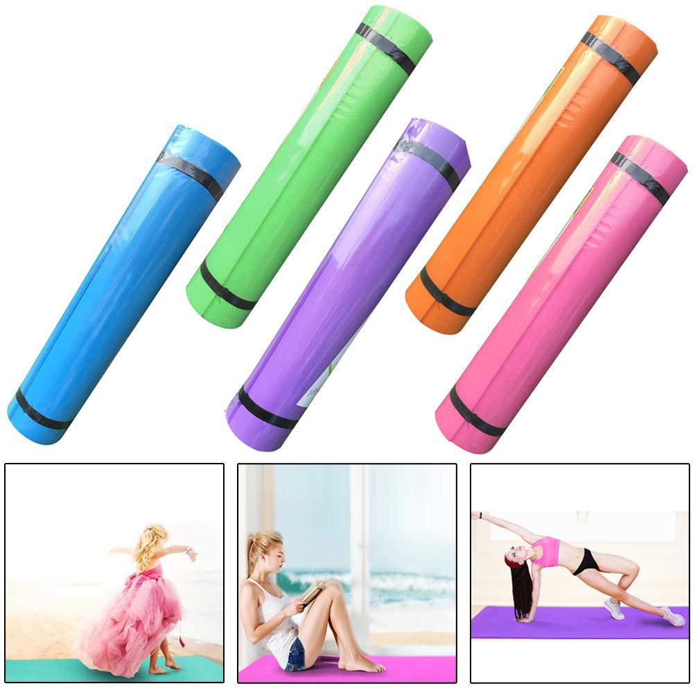 4MM EVA Thick Durable Yoga Mat Pilates Non-slip Exercise Fitness Pad Mat Outdoor Dance Exercise Baby Crawling