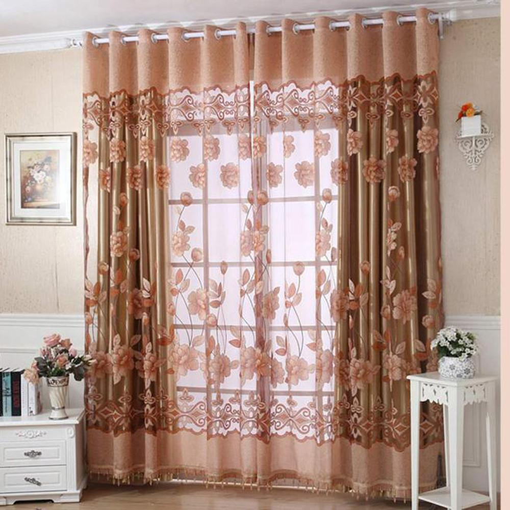 2018 Luxury With Hole Dangle Beads Floral Curtain Window Room Curtain Scarf  Curtains For Living Room From Rudelf, $24.76 | Dhgate.Com