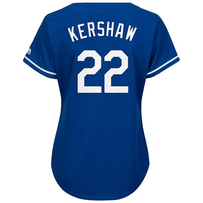 983cdded Womens Los Angeles Dodgers Corey Seager Clayton Kershaw Gray white blue  2018 World Series Baseball Jersey