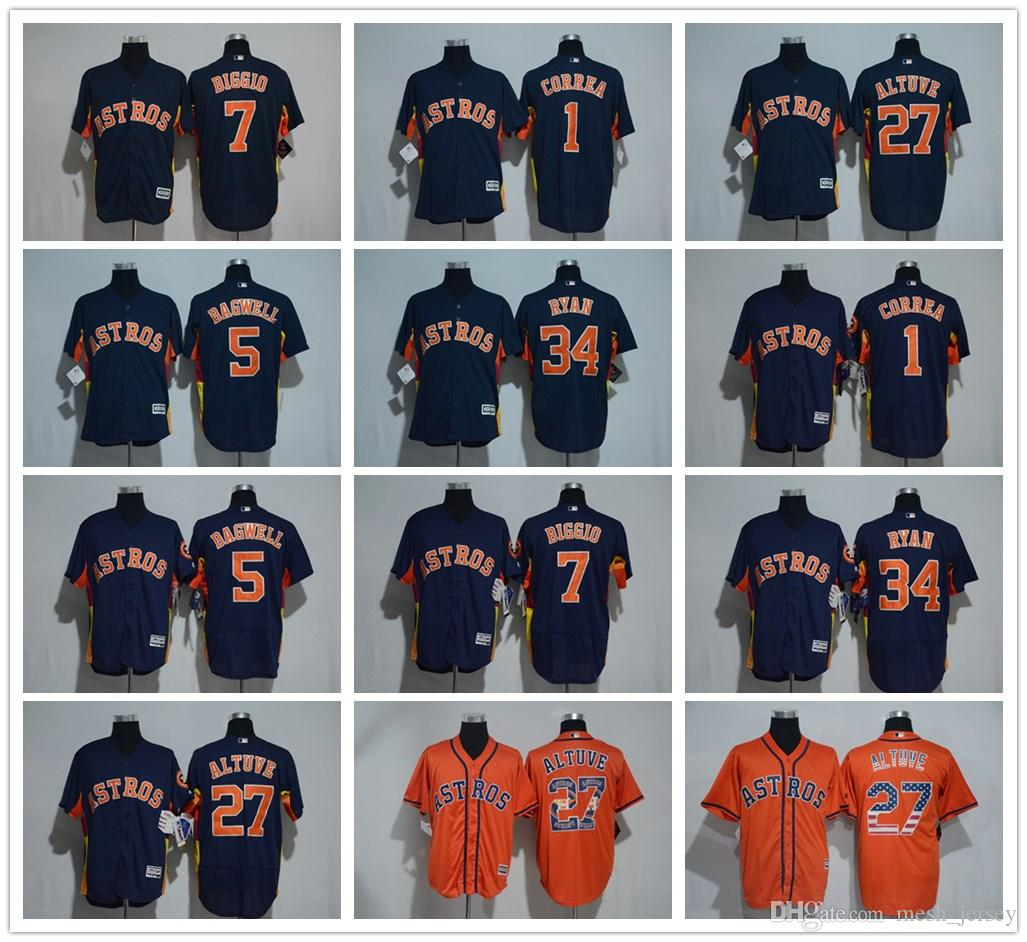low priced 7afa6 a5d47 Embroidery Houston CUSTOM Astros #27 Jose Altuve Mens Women Youth Custom  Majestic Stitched Baseball Jerseys Personal name Person number